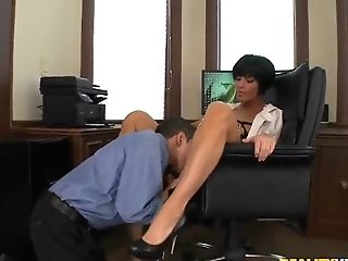 Rigid Chief Shay Fox Gets Her Lunch Fuck!