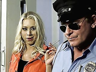 Sexy Convict Katie Morgan Wants To Fuck This Cop In The Jail Cell