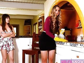 Alison Rey And Allie Eve Knox Share Vag Slurping Passion