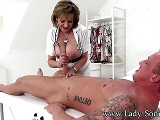 Lady Sonia Gives A Rubdown Then Gets Fucked Hard