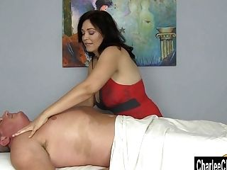 Charlee Chase Squeezes Out All The Jism