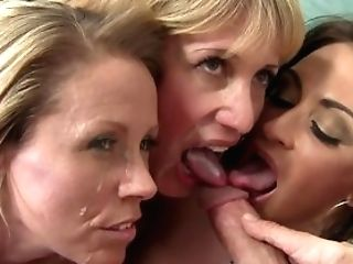 Three Stacked Cougars Pounce All Over This Lucky Guys Man Sausage