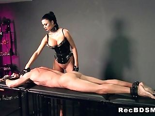 Big-boobed Mistress Fucks Strapped Man Domination & Submission...