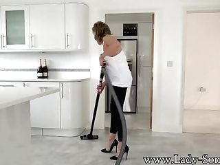 Big Tit Matures Lady Sonia Cleaning And Breast Torture