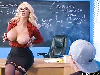 Frolic Tutor Nicolette Shea Rails Student's Big Man Rod