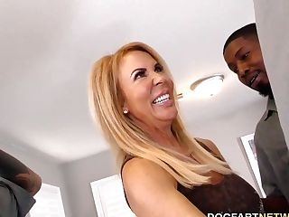 Ass Fucking Bi-atch Cougar Erica Lauren Interracial Gang-bang