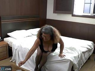 Agedlove - Brazilian Granny Brenda Seducing Water Supplier